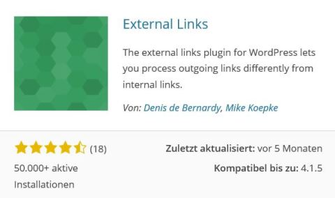 Wordpress Plugin: External Links