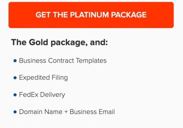 Incfile's Platinum Plan