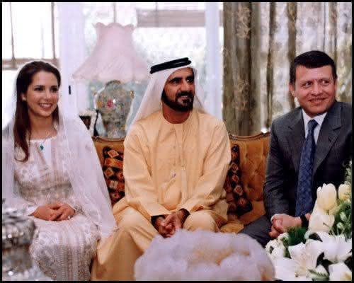 Sheikh Mohammed bin Rashid al Maktoum e Sua Alteza Real a Princesa Haya da Jordania