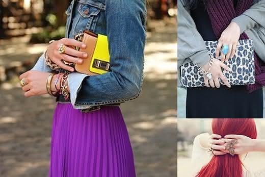 pulseiras e anel