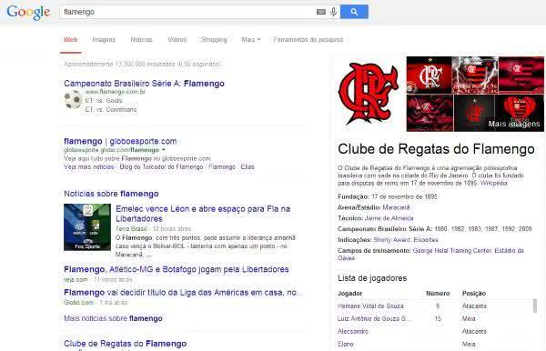 informacoes futebol google
