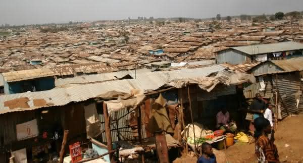 Kibera Nairobi Kenya uma das maiores favelas