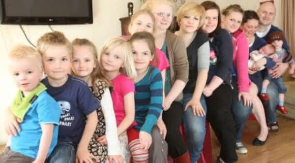familia dann maior familia do mundo