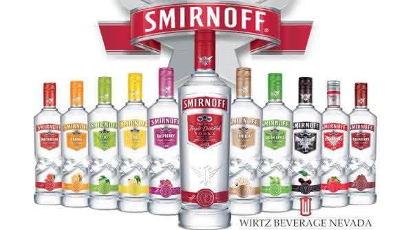 smirnoff entre as vodkas mais consumidas no mundo