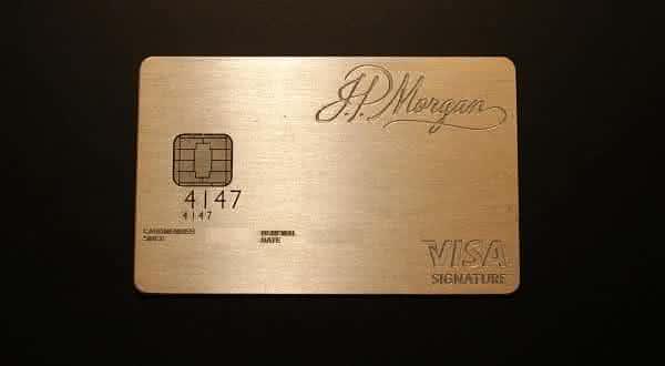 cartao JP Morgan Chase Palladium entre os mais caros do mundo
