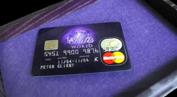 the Coutts World Card entre os cartoes mais exclusivos