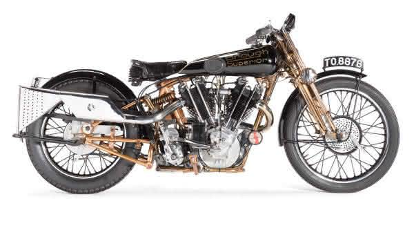 Brough Superior SS-100 1929 motos mais valiosas