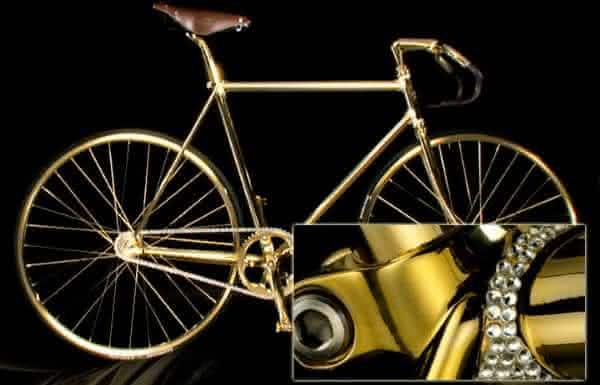 Aurumania crystal Edition Gold Bike uma das bicicletas mais caras do mundo
