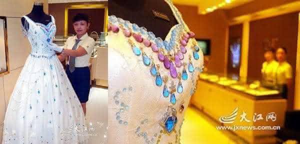 Vestido 9999 Quilates de Pedras Preciosas entre os vestidos de noiva mais caros do mundo