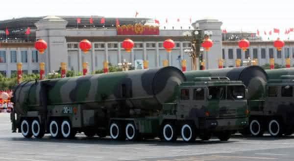 china entre as maiores potencias em armas nucleares