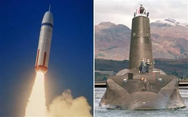 franca entre as maiores potencias em armas nucleares