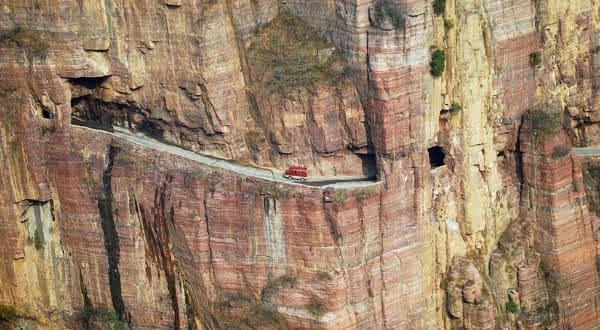 tunel guoliang entre as estradas mais perigosas do mundo