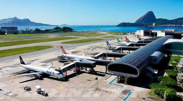 Aeroporto Internacional santos dumont um dos maiores aeroportos do brasil
