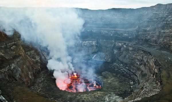 Mount Nyiragongo entre os vulcoes ativos mais perigosos do mundo