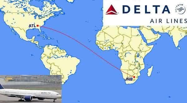 Johannesburg-JNB Atlanta-ATL entre os vôos mais longos do mundo
