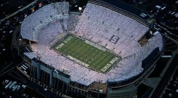 Beaver Stadium entre os maiores estadios do mundo