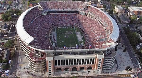 Bryant-Denny entre os maiores estadios do mundo
