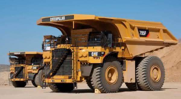 Caterpillar 795F AC entre os maiores caminhoes de mineracao do mundo
