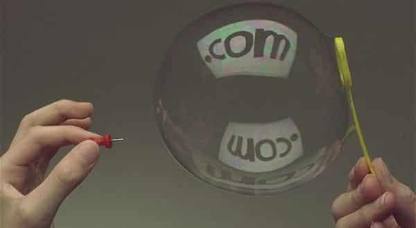 bolha da internet entre as maiores crises financeiras de todos os tempos