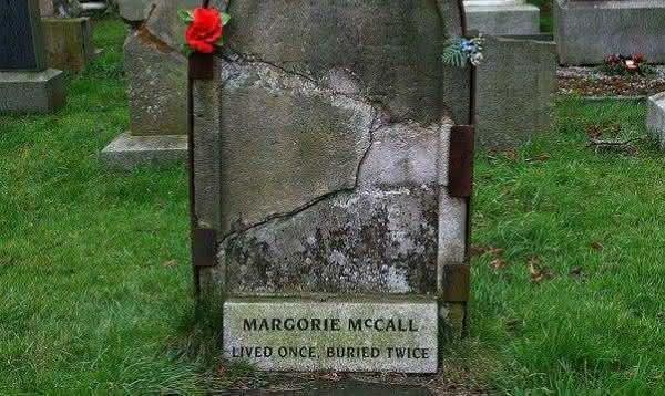 Marjorie McCall  entre os casos mais terriveis de pessoas enterradas vivas