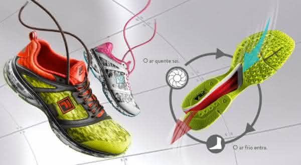fila entre as melhores marcas de tenis esportivos