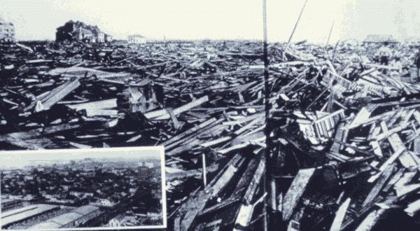furacao Galveston entre os piores furacoes de todos os tempos