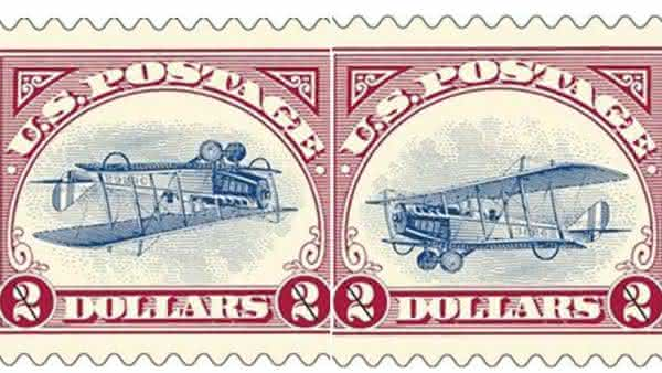 Inverted Jenny entre os selos mais raros do mundo