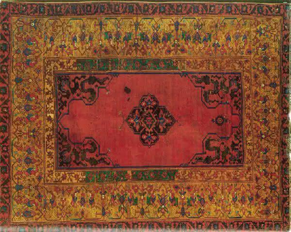 Small Medallion Ushak tapetes mais caros do mundo
