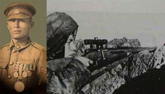 Francis Pegahmagabow  entre os snipers mais mortais da história