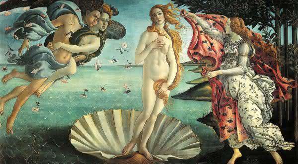 O Nascimento de Venus entre as pinturas mais famosas do mundo