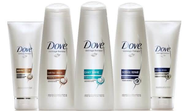 shampoo dove entre as marcas de shampoo mais vendidas do mundo