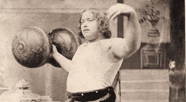 Louis Cyr entre os homens mais fortes do mundo