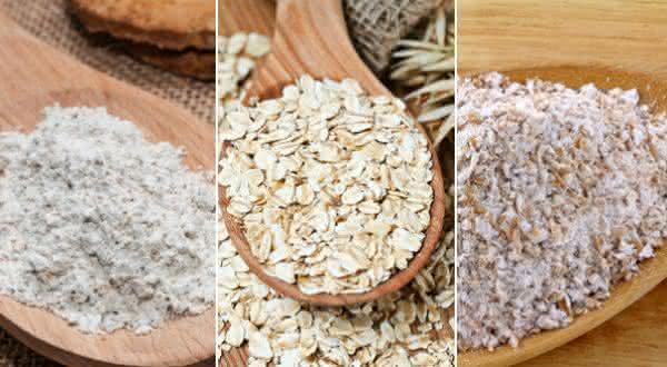 Farinha de Aveia entre os alimentos ricos em fibras