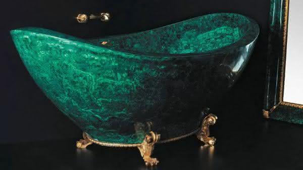 Baldi Malachite entre as banheiras mais caras do mundo