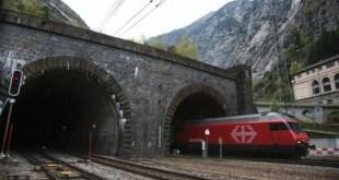 Base de Sao Gotardo entre os tuneis ferroviarios mais longos do mundo