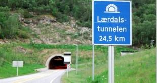 laerdal entre os tuneis rodoviarios mais longos do mundo