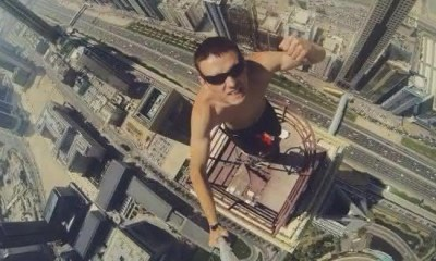 topo de predio entre os selfies mais perigosos de todos os tempos