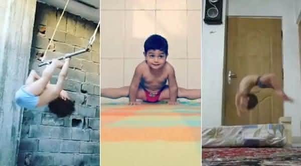 Arat Hosseini 2 entre as crianças mais fortes do mundo