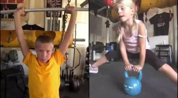 Dylan e Jessica Best entre as criancas mais fortes do mundo
