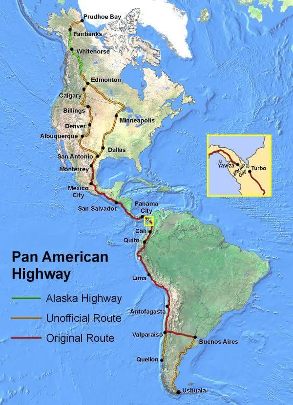 Pan-American entre as estradas mais longas do mundo