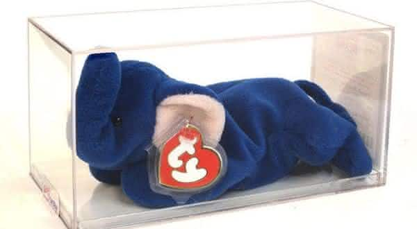 Beanie Baby Royal Blue Elephant entre as bonecas mais caras do mundo