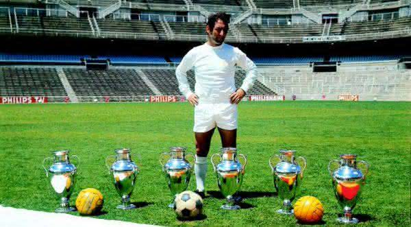 Francisco Gento entre os maiores jogadores do Real Madrid de todos os tempos