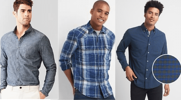 Gap entre as marcas de camisas masculinas mais vendidas do mundo