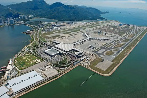 Hong Kong International Airport entre as maiores ilhas artificiais do mundo