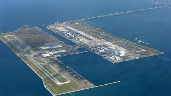 Kansai International Airport entre as maiores ilhas artificiais do mundo