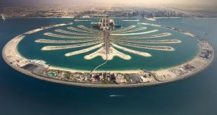 Palm Jumeirah entre as maiores ilhas artificiais do mundo