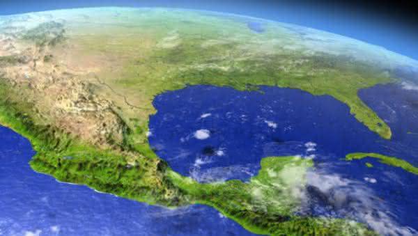 Golfo do Mexico entre oceanos e mares mais profundos do mundo