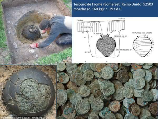 Tesouro de Frome entre os maiores tesouros escondidos ja encontrados no mundo