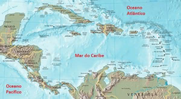 mar do caribe entre os maiores mares do mundo