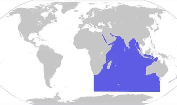 oceano indico entre os maiores oceanos do mundo